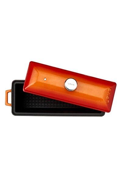 Döküm Ekmek Kabı / Terrine. Ölçü 11x29cm. -turuncu