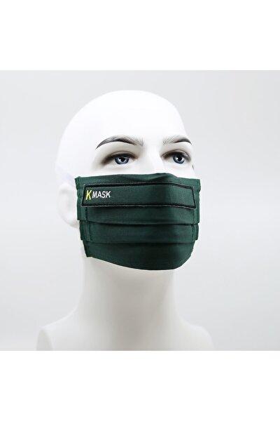 Haki Yeşil Yıkanabilir Filtreli Maske