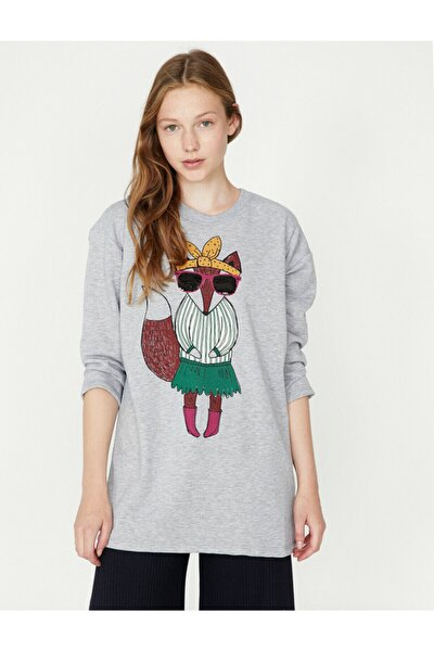 Pul Detayli Sweatshirt