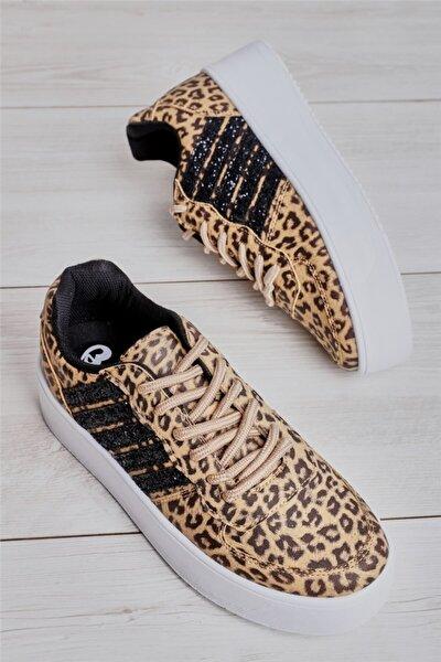 Leopar/siy.camkırık Kadın Sneaker