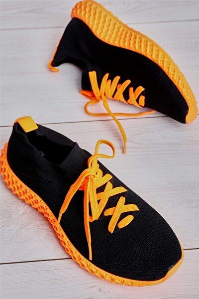 Siyah Oranj Kadın Sneaker L0816048882
