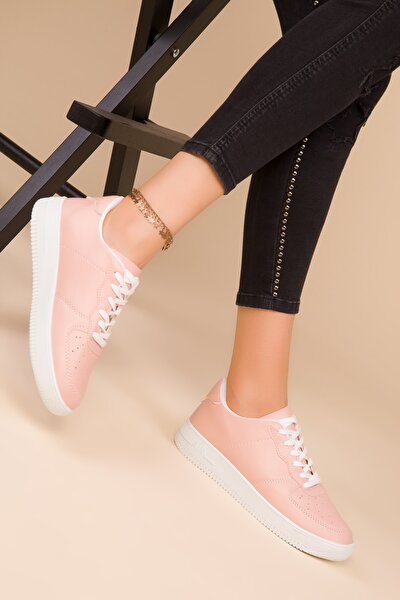 Pudra-beyaz Kadın Sneaker 14361