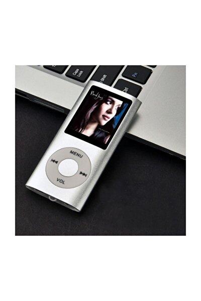 Digital Renkli Ekranlı Mp3-mp4 Çalar Hafıza Kartı Girişli Metal Gri