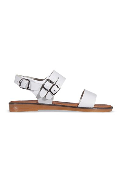 Kadın Beyaz Sandalet Ayakkabı