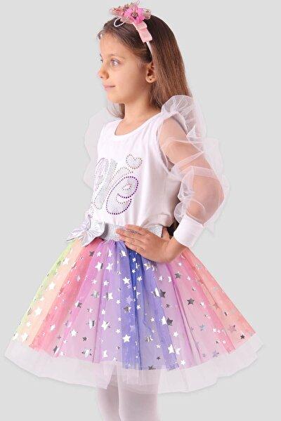 Kız Çocuk Tütü Etek Yıldızlı Gri (8-12 Yaş)