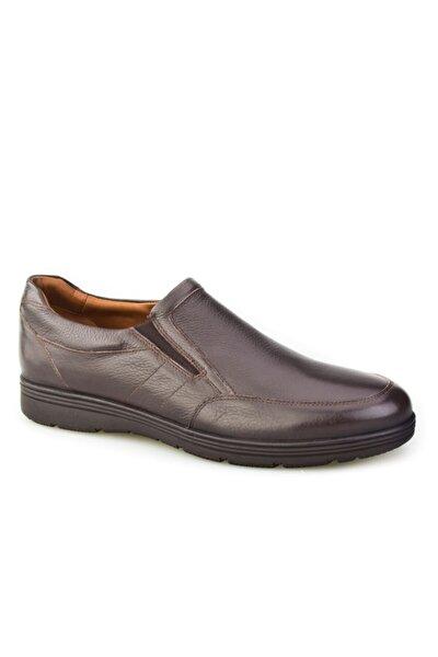 Bağcıksız Günlük Erkek Ayakkabı Kahve Floter Deri