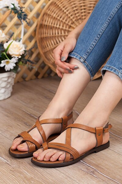 Taba Kadın Düz Sandalet