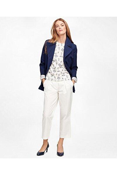 Kadın Beyaz Geniş Paça Pantolon