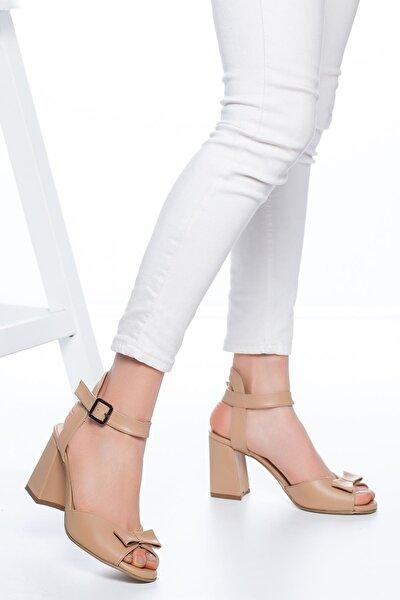 Kadın Ten Deborah Topuklu Cilt Ayakkabı