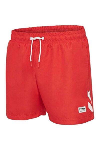 Erkek Kırmızı Rence Deniz Şortu
