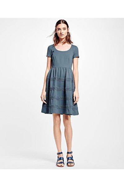 Kadın Gri Kısa Kollu Elbise