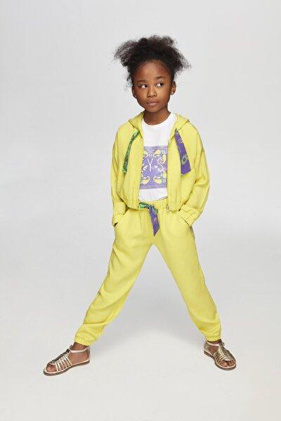 Kız Çocuk Sarı Eşofman Üstü