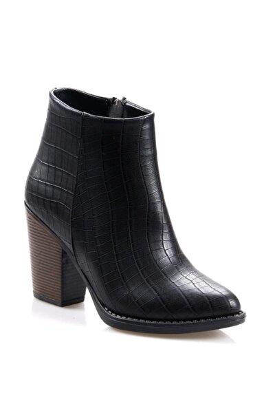 Topuklu Siyah Günlük Bayan Bot