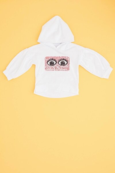 Kız Bebek Beyaz Sweatshirt