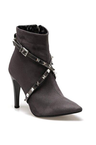 BARCELONA Gri Kadın Topuklu Bot 100523286