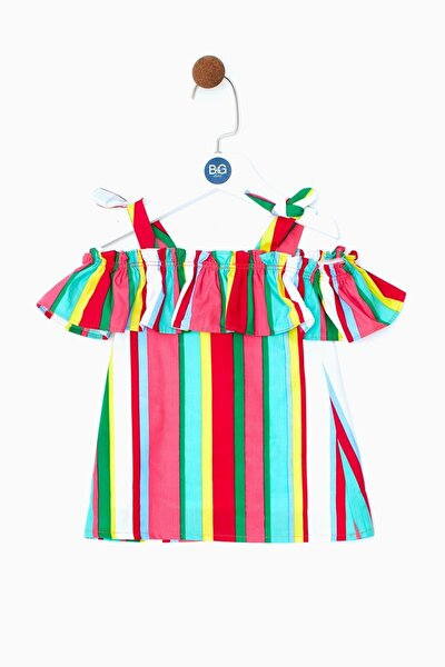 Kız Bebek Çizgili Elbise 19ss0bg2911