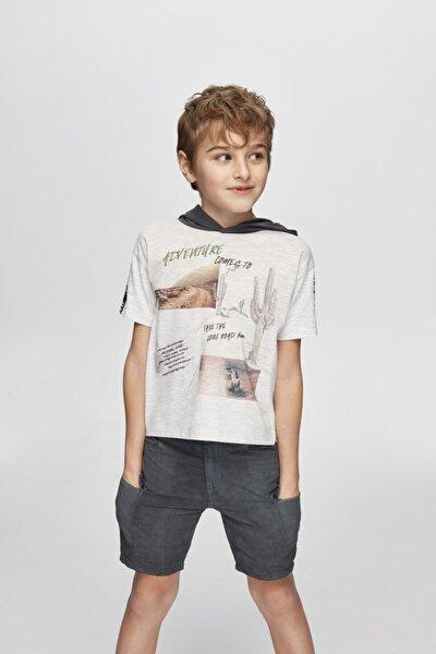 Erkek Çocuk Gri Melanj T-shirt