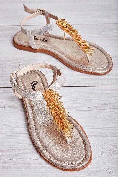 Altın Kadın Sandalet L0625020378