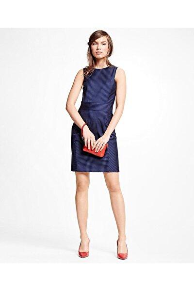 Kadın Lacivert Çizgili Elbise