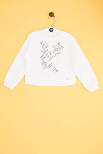 Kız Çocuk Beyaz Sweatshirt