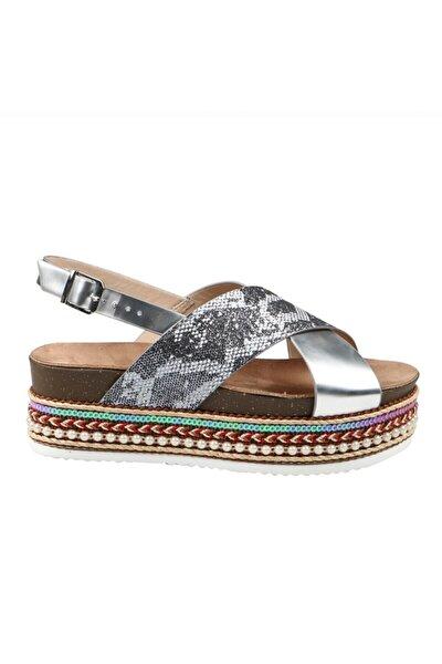 Gümüş Sımlı Yılan Kadın Ayakkabı 151 301-1-z