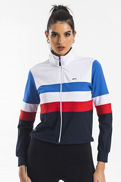 Roller Kadın Sweat Shirt Beyaz / Lacivert
