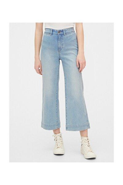 High Rise Wide Leg Crop Jean Pantolon