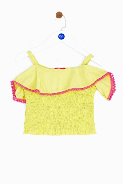 Kız Bebek Sarı Bluz 19ss1bg2622