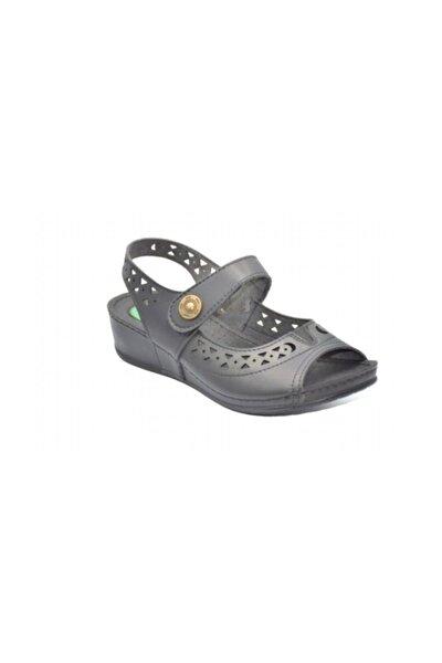 27127 Siyah Tek Cırt Kadın Jelli Günlük Sandalet