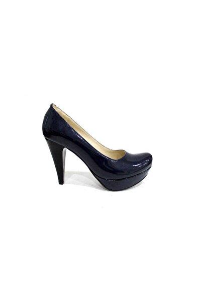 6210 Kadın Platform Topuklu Ayakkabı-rugan Lacivert