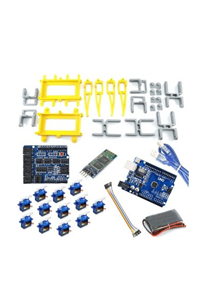 Örümcek Robot Kiti - Bluetooth Kontrollü (Spider Robot) Demonte