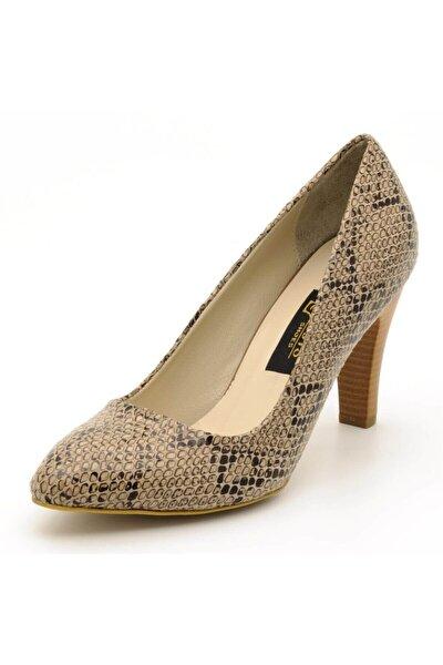 Kadın Vizon Büyük Numara Topuklu Ayakkabı
