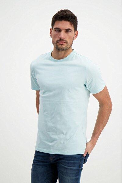 Mint Yeşili Erkek Bisiklet Yaka Basic T-shirt