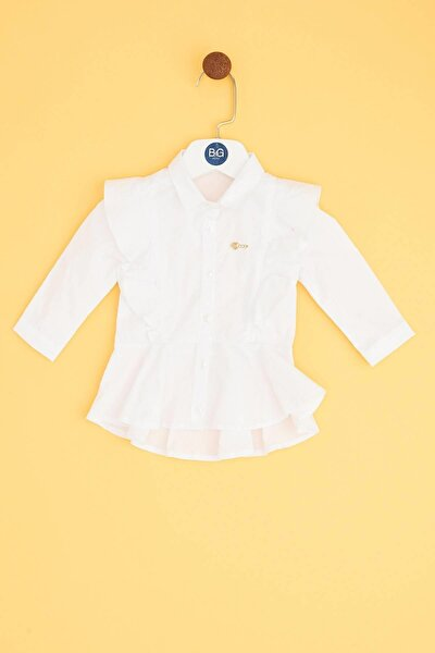 Kız Bebek Beyaz Gömlek