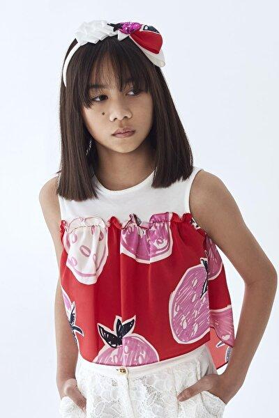 Kız Çocuk Kırmızı Bluz