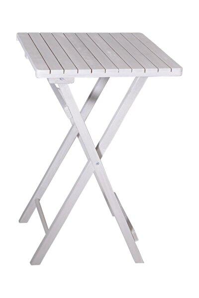 Gürgen Katlanır Beyaz Renk 50x50 Piknik Masa