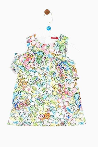 Kız Bebek Desenli Elbise 19ss1bg2912