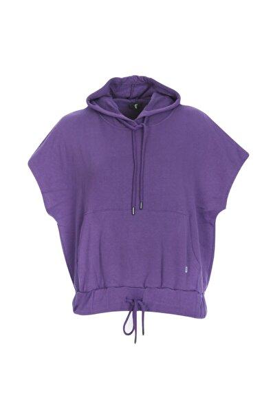 Swecropwom Kadın Mor Koşu Sweatshirt 710727-mor