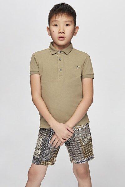 Erkek Çocuk Bej T-shirt