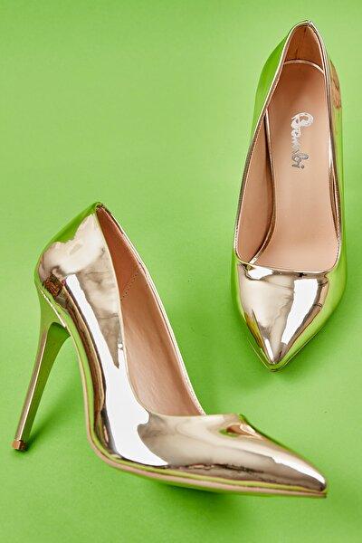 Altın Kadın Klasik Topuklu Ayakkabı K01596177039