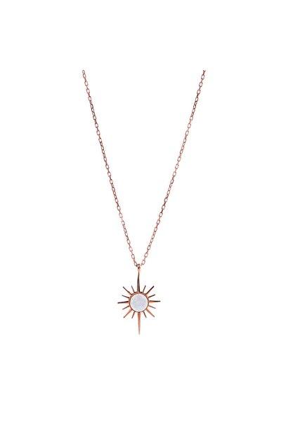 Opal Taşlı Kuzey Yıldızı Kolye - Rose