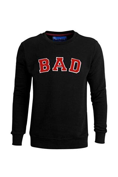 Erkek Sweatshirt Bad Convex Siyah 19.02.12.003