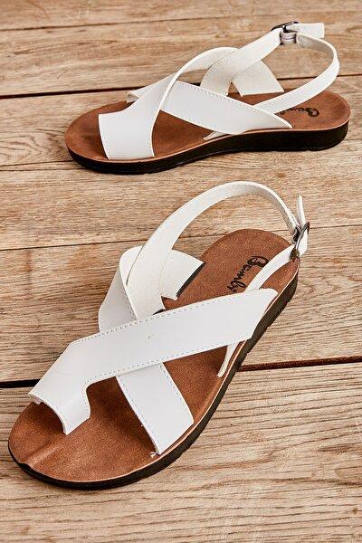 Beyaz Kadın Sandalet L0642111109