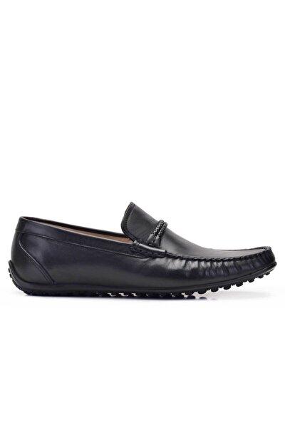 Hakiki Deri Siyah Günlük Loafer Erkek Ayakkabı -11733-
