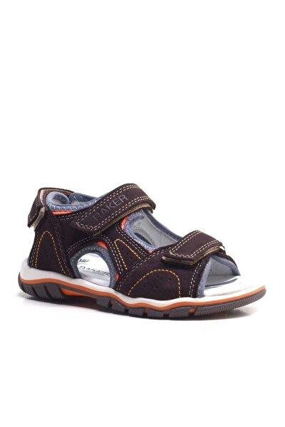 Hakiki Deri Kahverengi Cırtcırtlı Erkek Çocuk Sandalet
