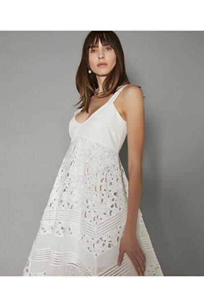 Asimetrik Kesim Güpür Elbise