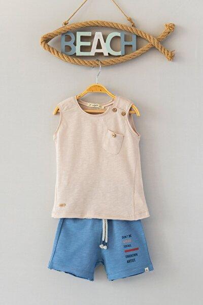 Omuz Düğmeli T-shirt Ve Kapri Takım