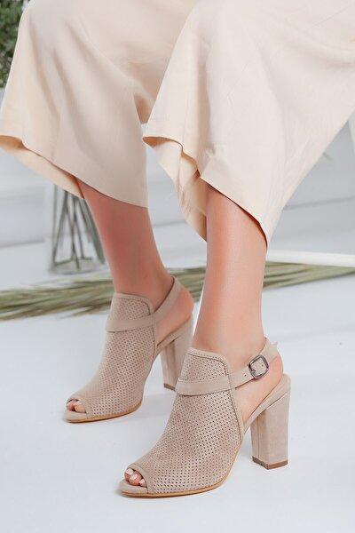 Brisha Vizon Süet Topuklu Ayakkabı