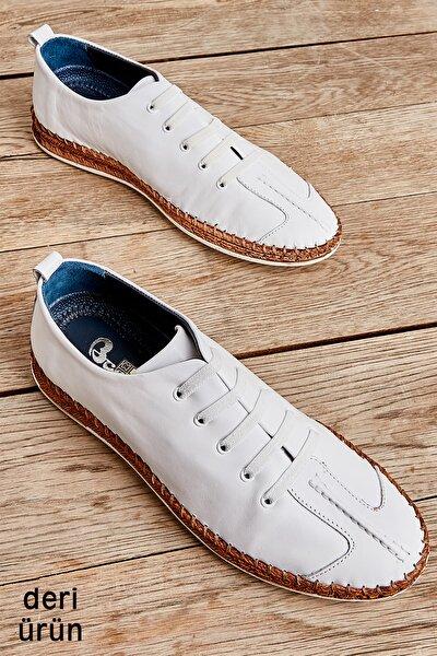 Hakiki Deri Beyaz Erkek Casual Ayakkabı L1611031103