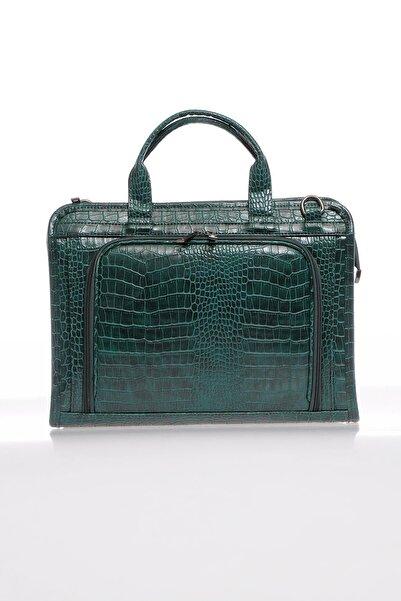 Luxury Sg071219 Yeşil Unisex Evrak Çantası